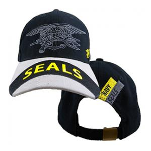 US Navy Seals Gray Logo Cap (Black & Gray)
