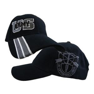 U.S. Army Special Forces Side Logo Cap (Black)