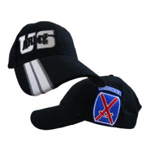 10th Mountain Division Cap Side Logo Cap (Black)