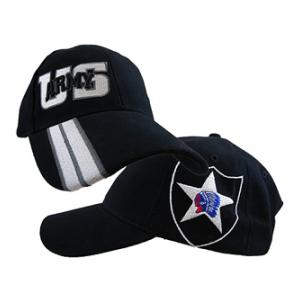 2nd Infantry Division Side Logo Cap (Black)