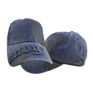 US Navy Paint Splattered Cap (Pre-Washed Navy)