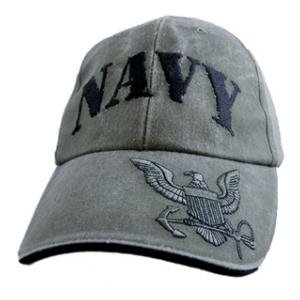 US Navy Cap with Logo on Visor (OD Green)