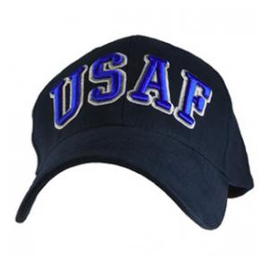 U.S. Air Force Cap with 3-D Text (Dark Navy)
