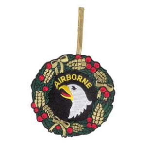 Embroidered 101st Airborne Christmas Ornament
