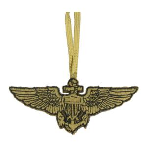 Embroidered Naval Aviator Wing Christmas Ornament