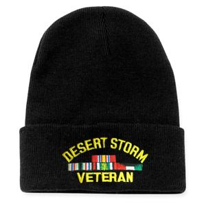 Desert Storm Veteran Watch Cap with 4 Ribbons