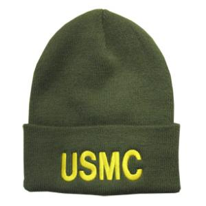 USMC Letters Watch Cap (Olive Green)