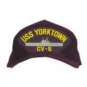 USS Yorktown CV-5 Cap (Dark Navy) (Direct Embroidered)