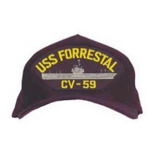 USS Forrestal CV-59 Cap (Dark Navy)  db24353a698