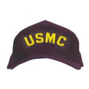 USMC Cap with Letters Only (Dark Navy)