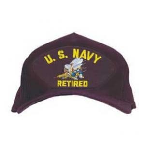 8016aebb658 U. S. Navy Retired Cap with Seabee Logo (Dark Navy)