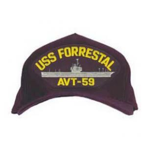 USS Forrestal AVT-59 Cap (Dark Navy) (Direct Embroidered)