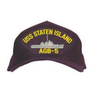 USS Staten Island AGB-5 Cap with Boat (Dark Navy) (Direct Embroidered)