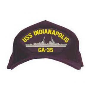 USS Indianapolis CA-35 Cap (Dark Navy) (Direct Embroidered)