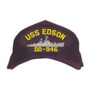 USS Edson DD-946 Cap (Dark Navy) (Direct Embroidered)