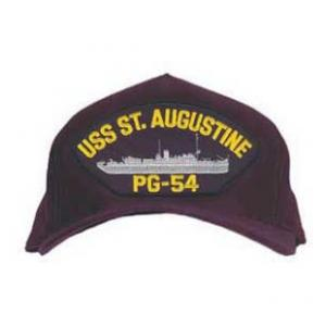 USS St. Ausgustine PG-54 Cap with Boat (Dark Navy) (Direct Embroidered)