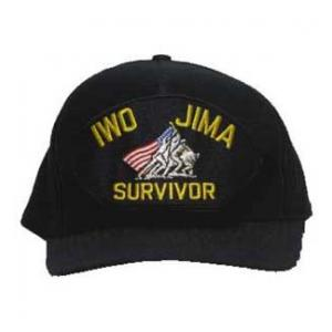 Iwo Jima Survivor Cap with Memorial