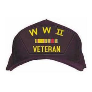 WWII Veteran Cap with 2 Ribbons