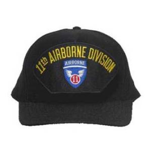 11th Airborne Division Cap (Black)