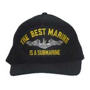 The Best Marine Is A Submarine with Emblem (Dark Navy) Cap