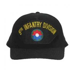 9th Infantry Division Cap (Black) (Direct Embroidered)