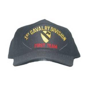 1st Cavalry Division Cap with First Team (Black)