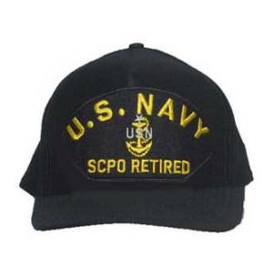 U. S. Navy SCPO Retired with Anchor (Dark Navy)
