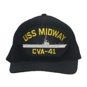 USS Midway CVA-41 Cap (Dark Navy) (Direct Embroidered)