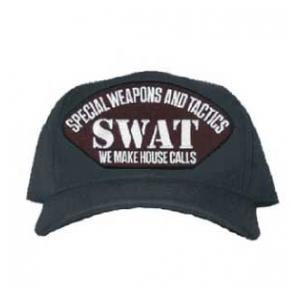 Swat Special Weapons and Tactics We Make House Calls Cap (Black)