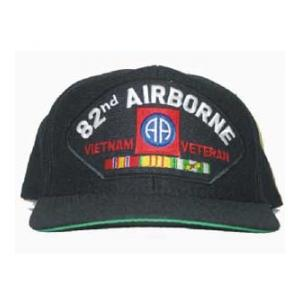 82nd Airborne Vietnam Veteran Cap with 3 Ribbons and Patch