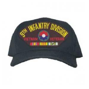 9th Infantry Division Vietnam Veteran Cap with 3 Ribbons and Patch