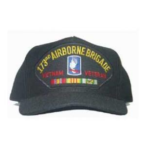 173rd Airborne Brigade Vietnam Veteran Cap with 3 Ribbons and Patch