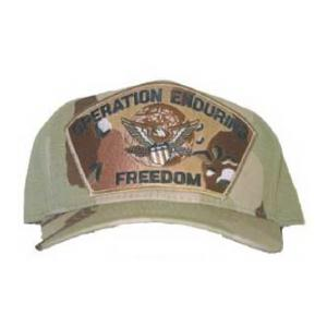 Operation Enduring Freedom Cap with Eagle and Globe (Desert Camo)