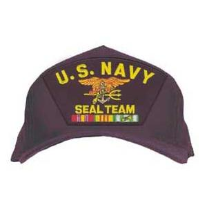 U. S. Navy Seal Team with Emblem w/ Vietnam ribbons (Dark Navy)