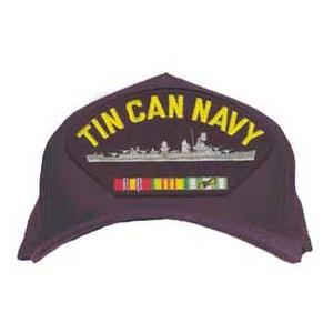 Tin Can Navy Cap with Ribbons (Dark Navy)