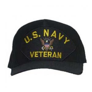 U. S. Navy Veteran Cap with Logo (Dark Navy)