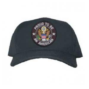 Proud To Be An American Cap with Seal (Black)