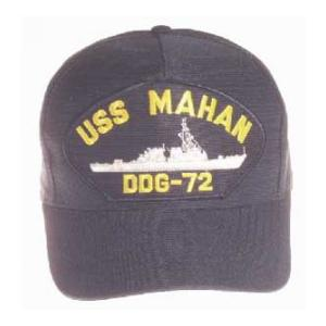 USS Mahan DDG-72 Cap (Dark Navy) (Direct Embroidered)