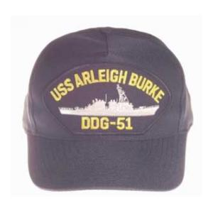 USS Arleigh Burke DDG-51 Cap (Dark Navy) (Direct Embroidered)