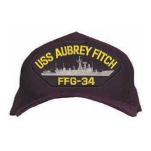 USS Aubrey Fitch FFG-34 Cap (Dark Navy) (Direct Embroidered)