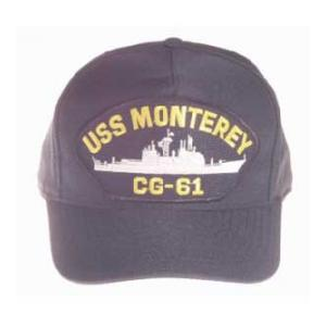 USS Monterey CG-61 Cap (Dark Navy) (Direct Embroidered)