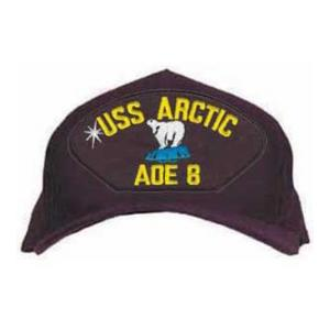 USS Arctic AOE-8 Cap (Dark Navy) (Direct Embroidered)