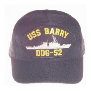 USS Barry DDG-52 Cap (Dark Navy) (Direct Embroidered)