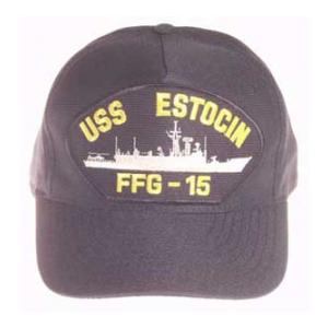 USS Estocin FFG-15 Cap (Dark Navy) (Direct Embroidered)