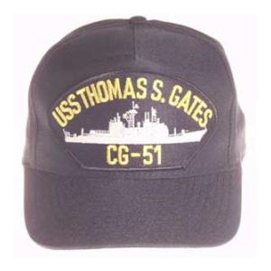 USS Thomas S. Gates CG-51 Cap (Dark Navy) (Direct Embroidered)