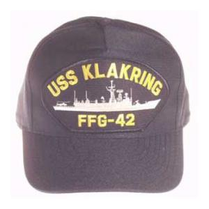 USS Klarkring FFG-42 Cap (Dark Navy) (Direct Embroidered)
