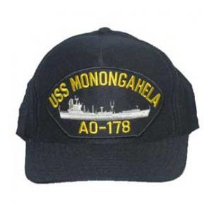 USS Monogahela AO-178 Cap with Boat (Dark Navy) (Direct Embroidered)