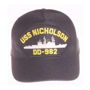USS Nicholson DD-982 Cap (Dark Navy) (Direct Embroidered)