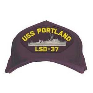 USS Portland LSD-37 Cap (Dark Navy) (Direct Embroidered)