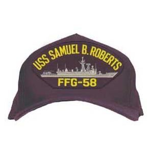 USS Samuel B. Roberts FFG-58 Cap (Dark Navy) (Direct Embroidered)